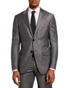 Ermenegildo Zegna Men's Light Plaid Two-Piece Wool Regular-Fit