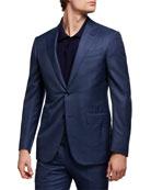 Ermenegildo Zegna Men's Tonal Plaid Wool Two-Piece Regular-Fit