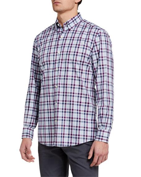 Ermenegildo Zegna Men's Multi-Check Regular-Fit Sport Shirt