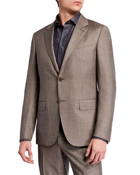 Ermenegildo Zegna Men's Sharkskin Regular-Fit Wool Two-Piece Suit