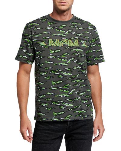 Men's Pop Rabbit Camo Embroidered-Logo T-Shirt