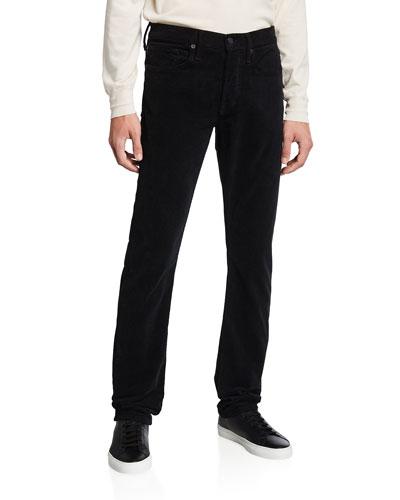 Men's Straight-Leg Corduroy Stretch Pants