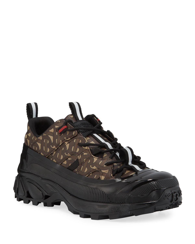 Burberry Sneakers MEN'S TB-MONOGRAM E-CANVAS TRAINER SNEAKERS