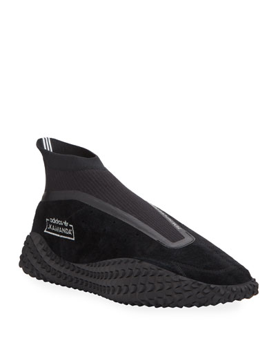 Men's Kamanda Textured-Sole Nubuck Sneakers
