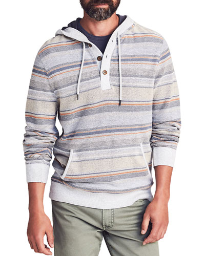 Men's Campfire Striped Pullover Hoodie