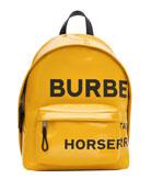 Burberry Men's Jett Coated Canvas Logo Backpack