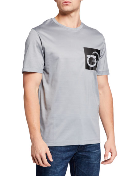 Salvatore Ferragamo Men's Gancini-Patch Crewneck Tee
