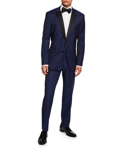 Men's Formal Tuxedo w/ Contrast Lapel
