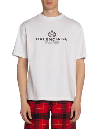 Men's Leaf Logo Crewneck T-Shirt