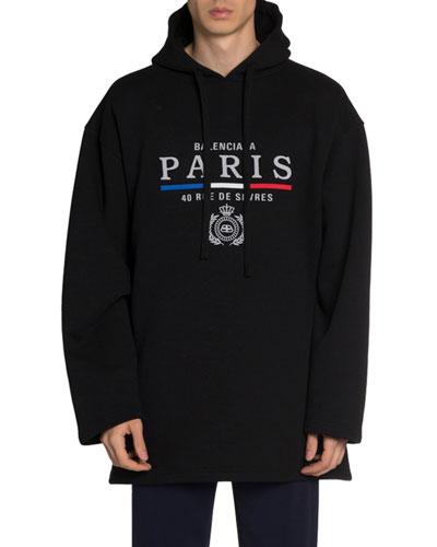 Men's Oversized Hoodie Sweatshirt w/ Logo