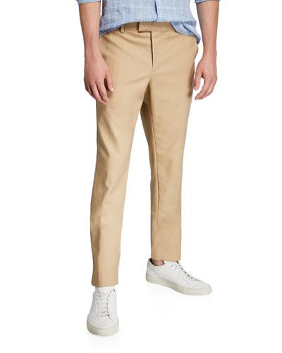 Men's Hybrid Double-Face Cotton Pants w/ Side Stripes