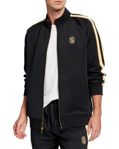 Men's Jacquard Stripe Track Jacket