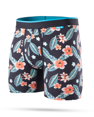 Men's Night Night Floral Wholester Boxer Briefs