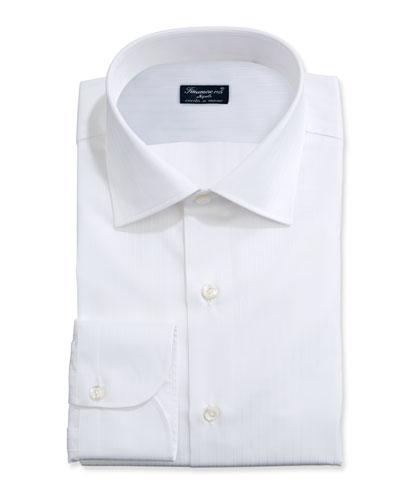 Men's Solid Bib-Front Tuxedo Shirt