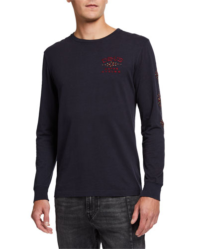 Men's Solita Embroidered Long-Sleeve T-Shirt