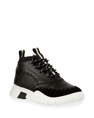 Men's Gregg Mid-Top Sneaker with Tonal Stitching Detail