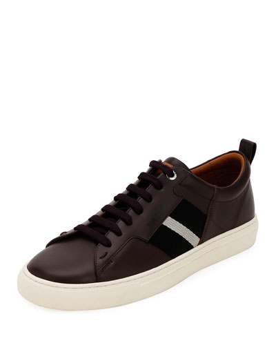 Men's Helvio Trainspotting Leather Low-Top Sneakers