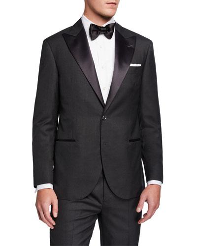 Men's Peak-Lapel Two-Piece Tuxedo Suit