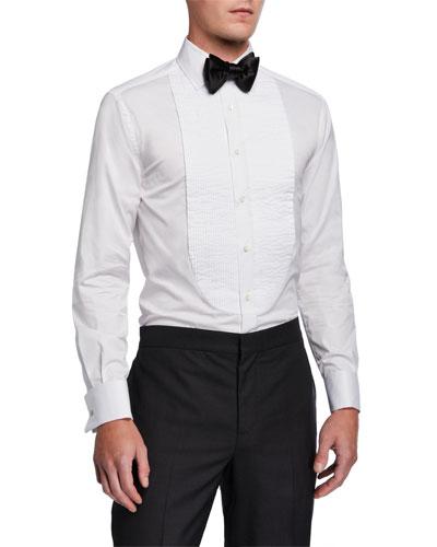 Men's Pleated-Bib Tuxedo Shirt
