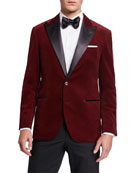 Brunello Cucinelli Men's Peak-Lapel Velvet Dinner Jacket