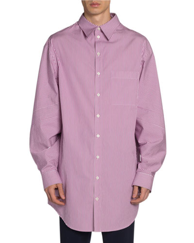 Men's Striped Long Shirt