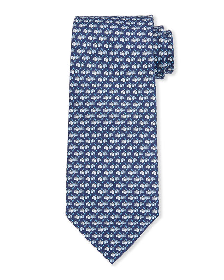 Salvatore Ferragamo Lox Boxing Gloves Silk Tie, Blue