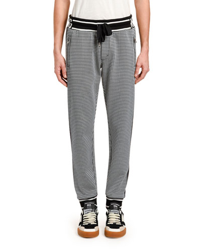 Men's Houndstooth Logo Track Pants