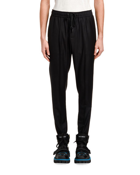 Dolce & Gabbana Men's Wool Jogger Pants