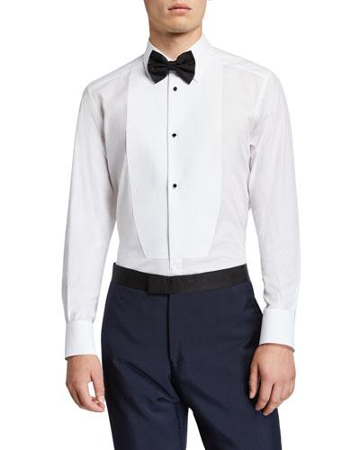 Men's Formal Bib-Front Tuxedo Shirt