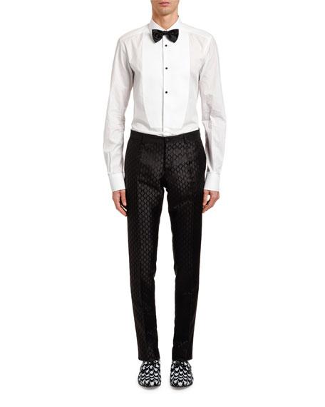 Dolce & Gabbana Men's Jacquard Silk Taffeta Trousers