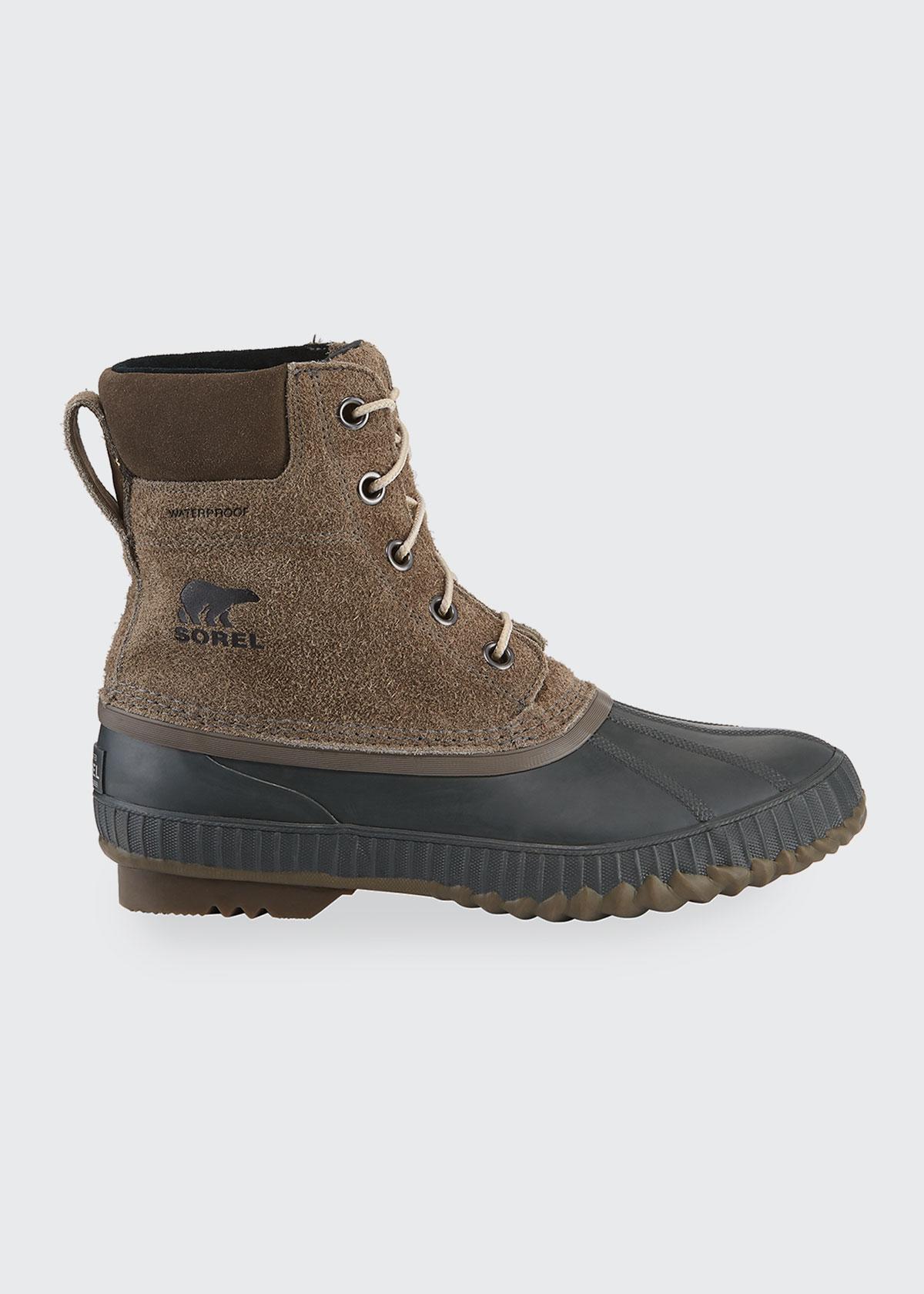 Sorel Boots MEN'S CHEYANNE II WATERPROOF SUEDE DUCK BOOTS