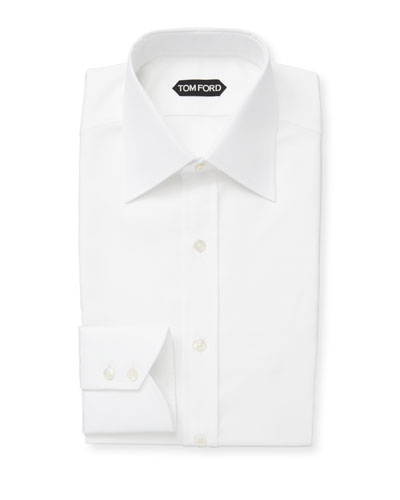 Men's Classic-Collar Poplin Dress Shirt