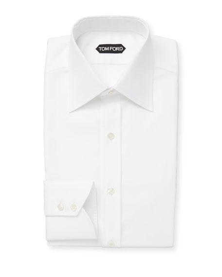 TOM FORD Men's Classic-Collar Poplin Dress Shirt
