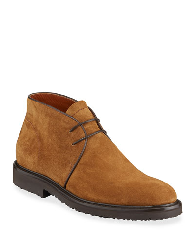Men's New Trivero Suede Lug-Sole Chukka Boots