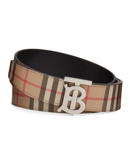 Burberry Men's TB Vintage Check Belt