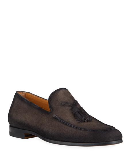 Magnanni for Neiman Marcus Men's Super Flex Tassel Leather Loafers