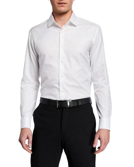 Salvatore Ferragamo Men's Tonal Gancini Sport Shirt