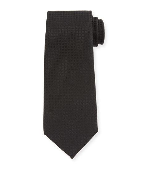 TOM FORD Men's Tonal Dots 8cm Tie, Black
