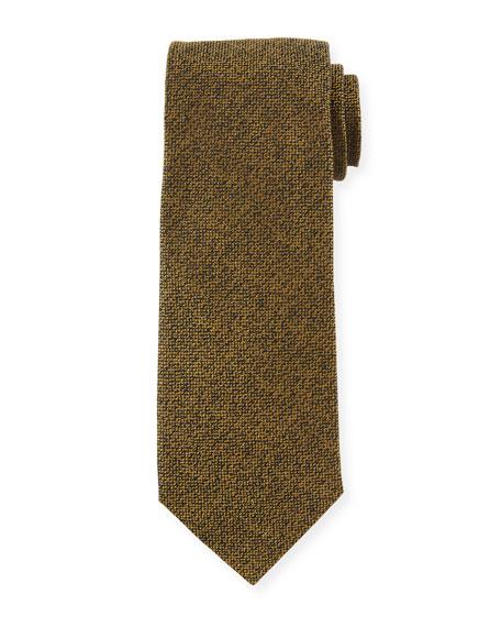 TOM FORD 8cm Textured Silk Tie, Gold