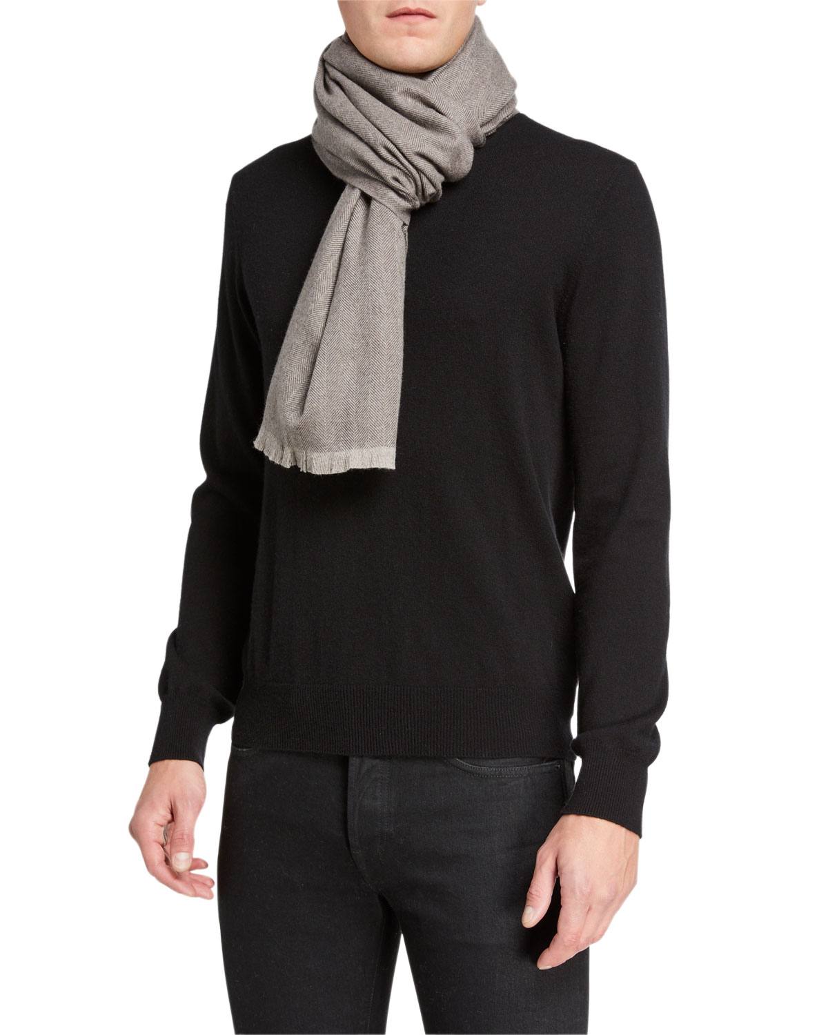 Tom Ford Accessories MEN'S WOOL SCARF