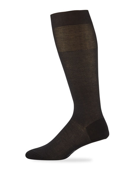 TOM FORD Men's Herringbone Cotton Socks
