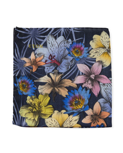 Men's Floral Pocket Square