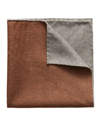 Men's Reversible Solid Wool Pocket Square