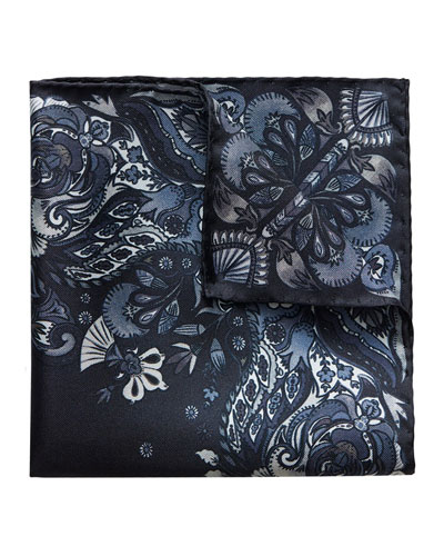 Men's Patterned Silk Pocket Square