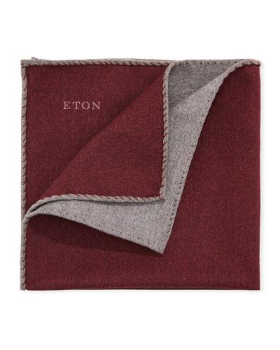 Men's Reversible Solid Wool Pocket Square