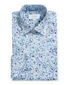 Eton Men's Contemporary Floral-Print Dress Shirt