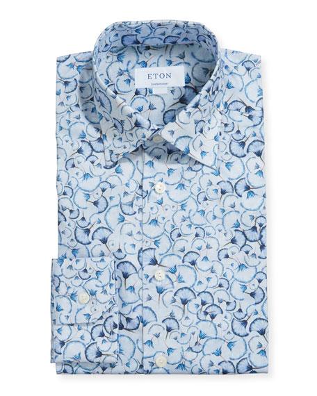 Eton Men's Contemporary Floral-Print Dress Shirt