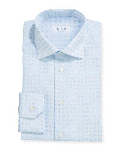 Men's Contemporary Medallion-Print Dress Shirt