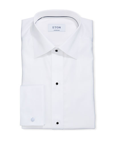 Men's Formal Dobby Contemporary Dress Shirt