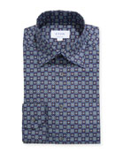 Eton Men's Contemporary Floral Medallion-Print Dress Shirt